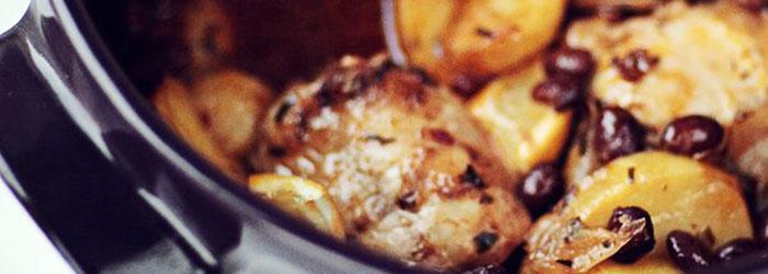 Casserole Z Cytrynowym Kurczakiem Ziemniakami I Czarna Fasola
