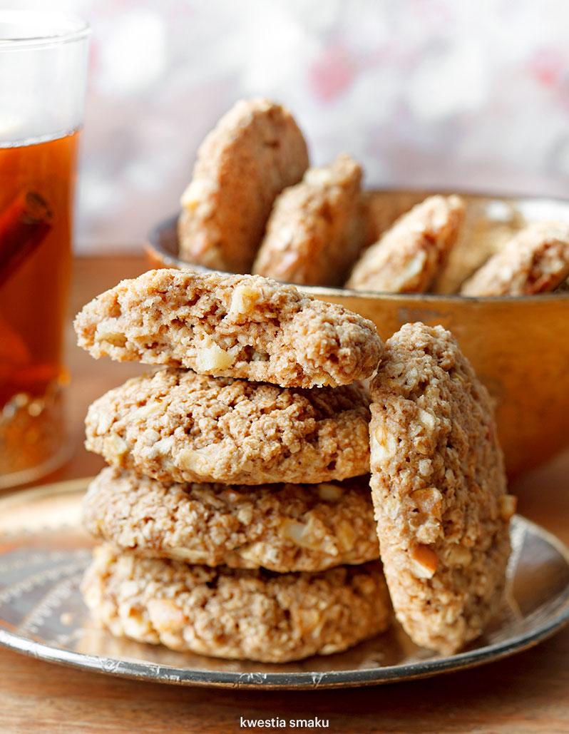 Zdrowe Ciasteczka Owsiane Z Jablkami I Cynamonem Kwestia Smaku