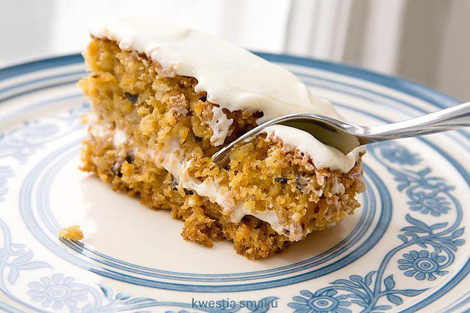 Znalezione obrazy dla zapytania ciasto marchewkowe