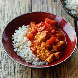 Curry Z Indykiem Kukurydza I Pomidorami