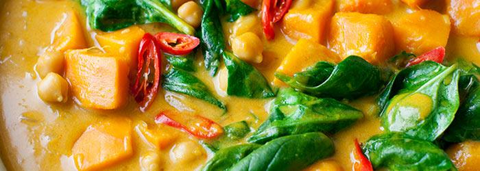 Tajskie Curry Z Ciecierzyca Dynia I Szpinakiem Kwestia Smaku