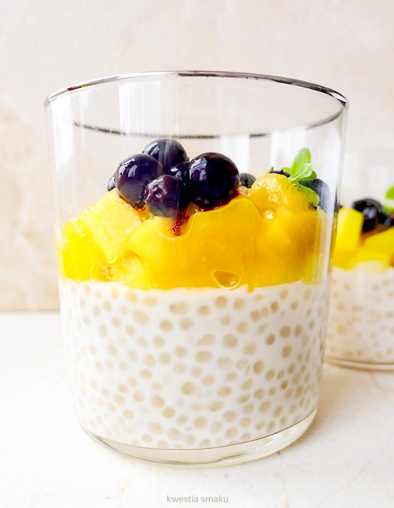 Kokosowy Pudding Z Tapioki Z Musem Mango Kwestia Smaku