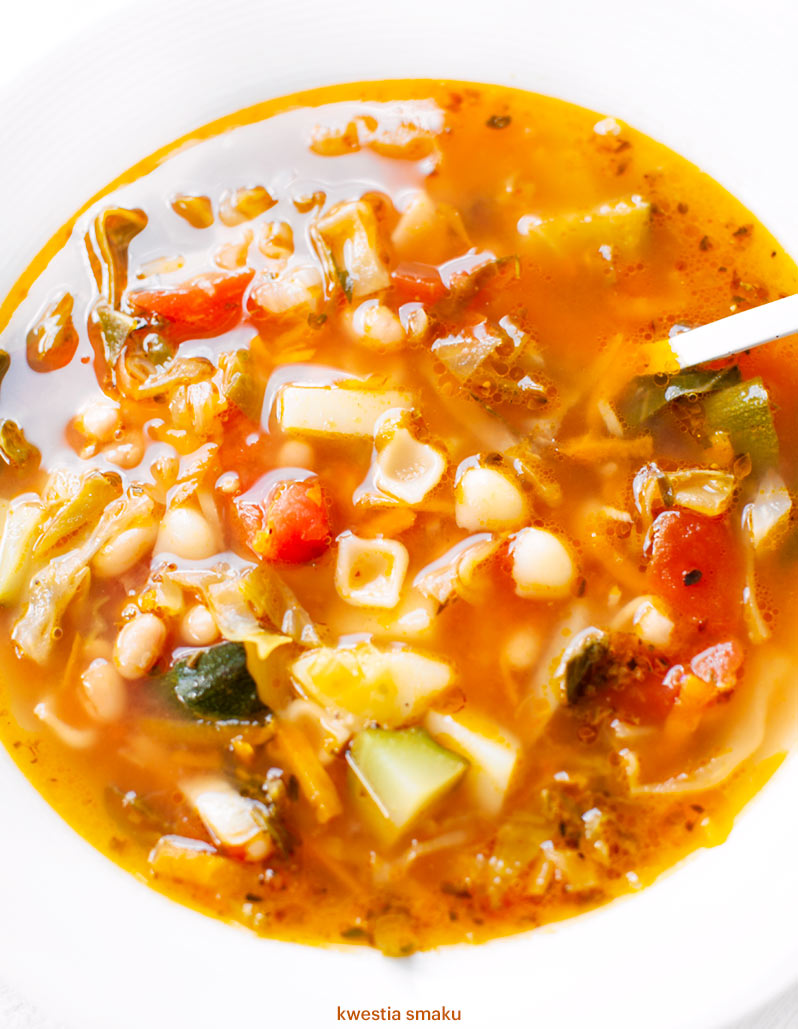 Zupa Minestrone Z Mloda Kapusta
