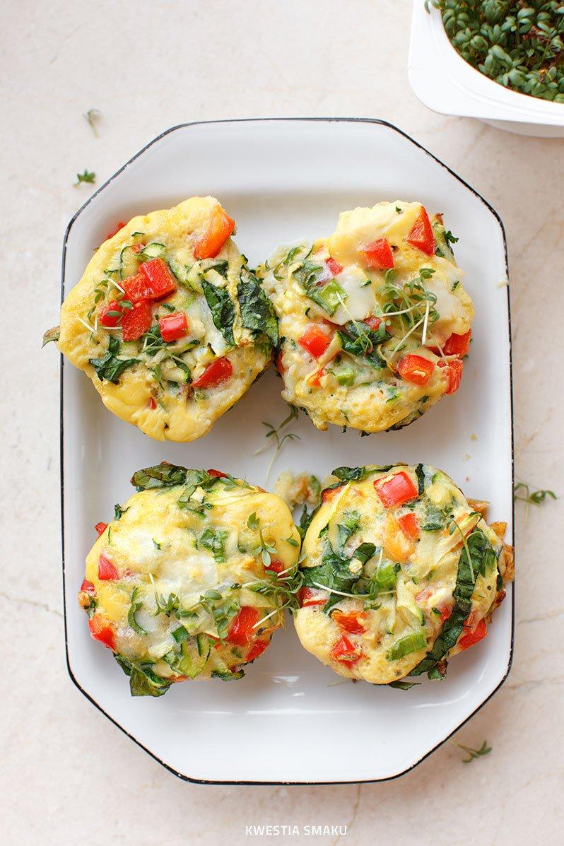 Muffiny Jajeczne Z Papryką Cukinią I Szpinakiem Kwestia Smaku