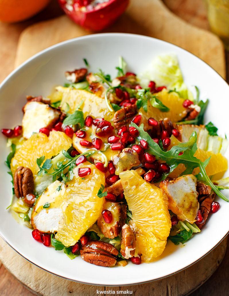 Salatka Z Kurczakiem Pomarancza I Orzechami Kwestia Smaku