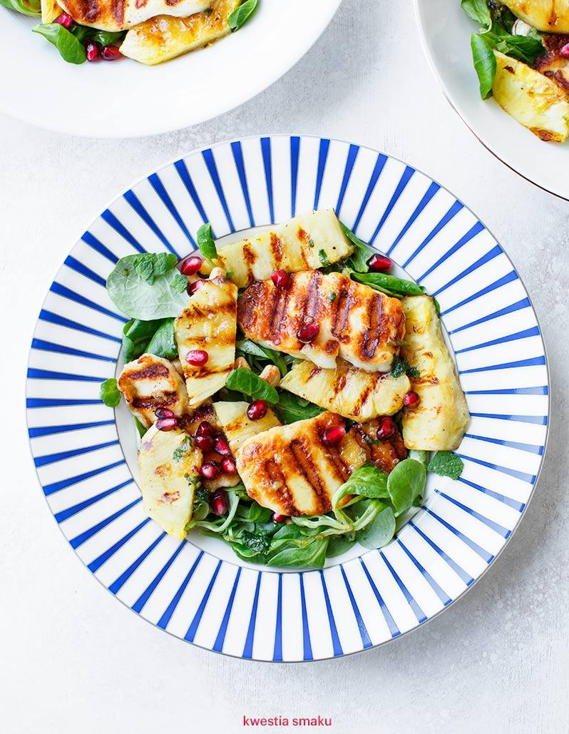 Salatka Z Grillowanym Serem Halloumi I Ananasem Kwestia Smaku