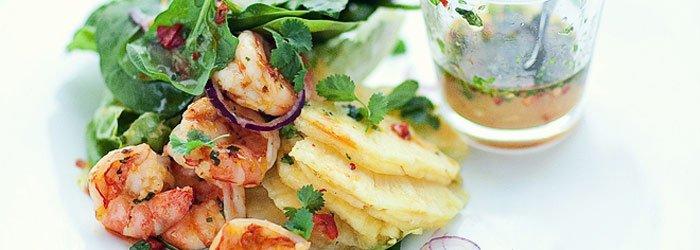 Salatka Z Krewetkami Szpinakiem I Ananasem Blog Kwestia Smaku