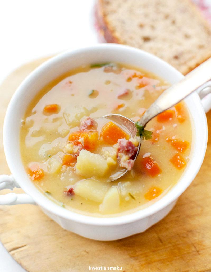 Zupa Grochowa Z Ziemniakami I Kielbasa Kwestia Smaku
