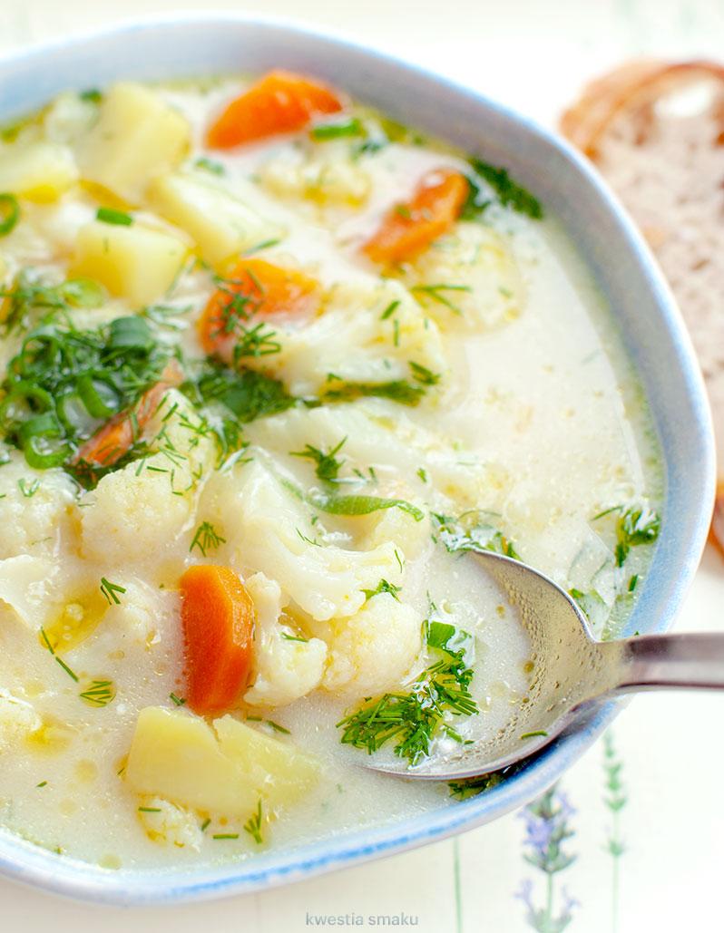 Zupa Kalafiorowa Z Ziemniakami I Marchewka Kwestia Smaku